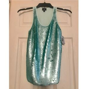 Mossimo teal, sparkly tank.